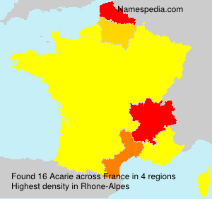Surname Acarie in France