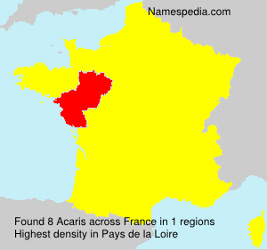 Surname Acaris in France