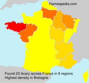 Surname Acary in France