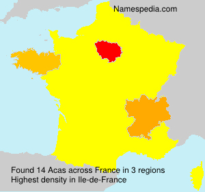 Surname Acas in France