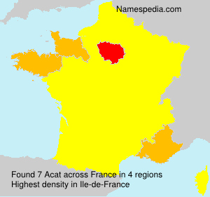 Surname Acat in France