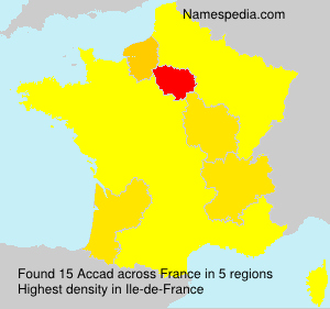 Surname Accad in France