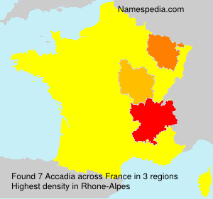Surname Accadia in France