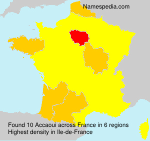 Surname Accaoui in France