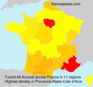 Surname Accardi in France