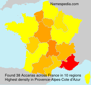 Surname Accarias in France