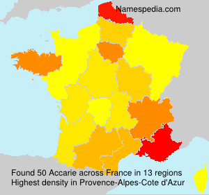 Surname Accarie in France