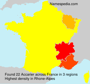Surname Accarier in France