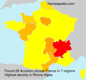 Surname Accarion in France