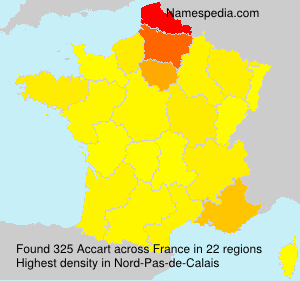 Surname Accart in France
