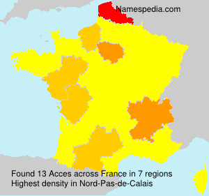 Surname Acces in France