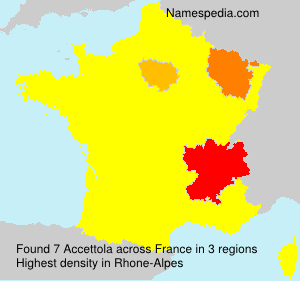 Surname Accettola in France