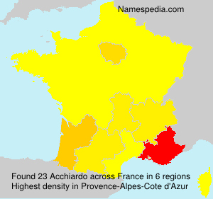 Surname Acchiardo in France