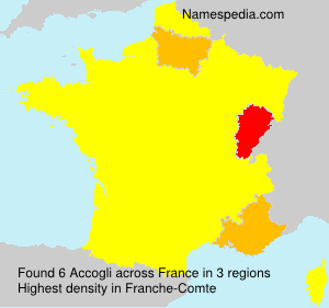 Surname Accogli in France