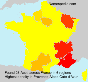 Surname Aceti in France