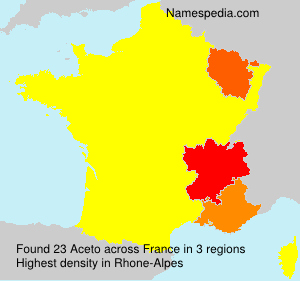 Surname Aceto in France