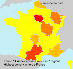 Surname Achak in France