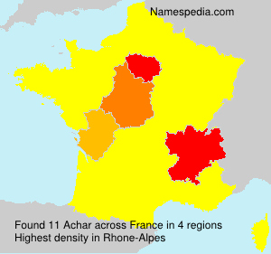 Surname Achar in France