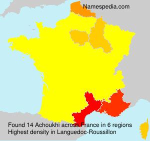Familiennamen Achoukhi - France