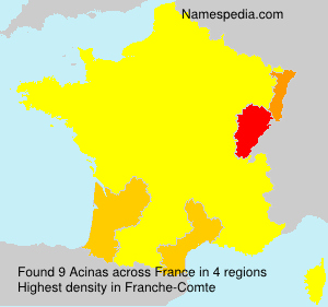 Surname Acinas in France