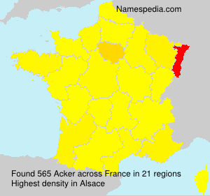 Surname Acker in France