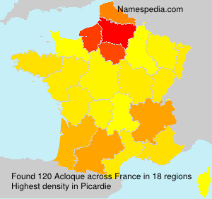 Surname Acloque in France