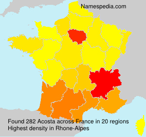 Surname Acosta in France