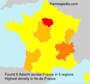Surname Adachi in France