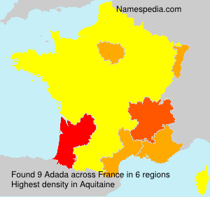 Surname Adada in France