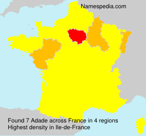 Surname Adade in France