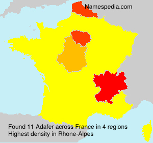 Surname Adafer in France