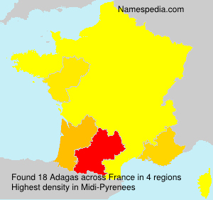 Surname Adagas in France