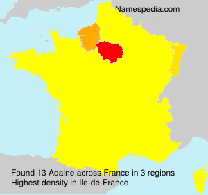 Surname Adaine in France