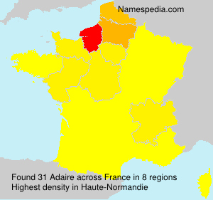 Surname Adaire in France