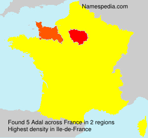 Surname Adal in France