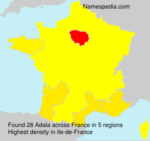 Surname Adala in France