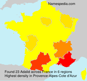 Surname Adalid in France