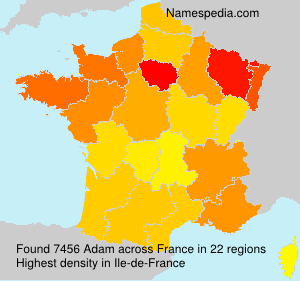 Surname Adam in France