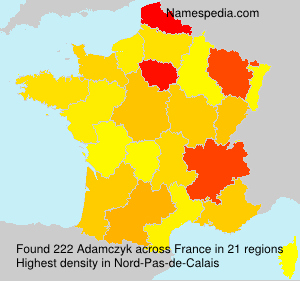 Surname Adamczyk in France