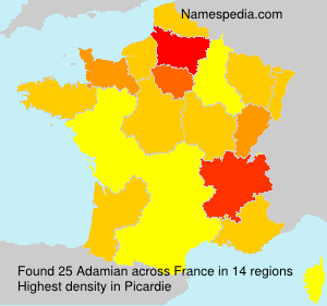 Surname Adamian in France