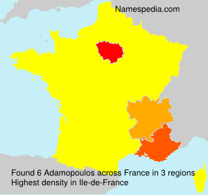 Surname Adamopoulos in France