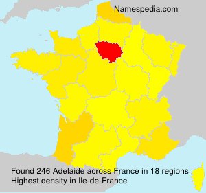 Surname Adelaide in France
