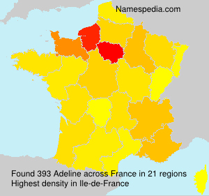 Surname Adeline in France