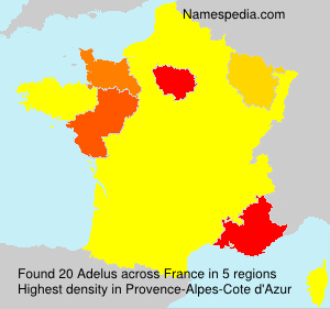 Surname Adelus in France