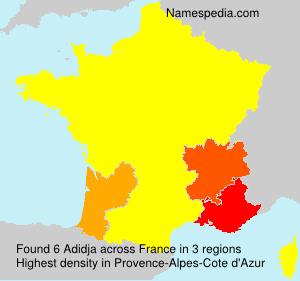 Surname Adidja in France
