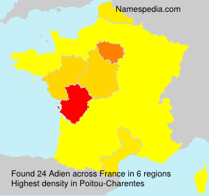 Surname Adien in France