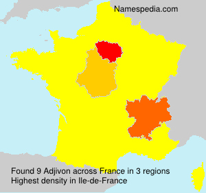 Surname Adjivon in France