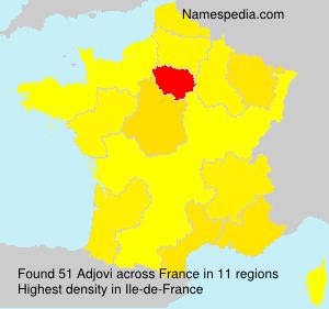 Surname Adjovi in France