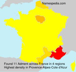 Familiennamen Adment - France