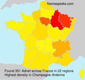 Surname Adnet in France